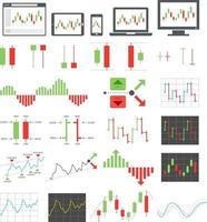 iconos de opciones binarias. ilustraciones vectoriales. vector