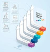 Start up business staircase direction. Vector illustration. can be used for workflow layout, banner, number options, step up options, web design, infographics, timeline and diagram template.