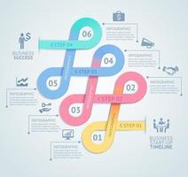 plantilla de diseño de infografías. ilustración vectorial. se puede utilizar para diseño de flujo de trabajo, diagrama, opciones numéricas, opciones de inicio, diseño web vector