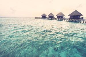 Sunset over maldives island