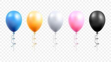 Balloons set vector illustrations.