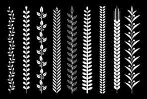Leaf nature pattern vector illustrations.