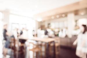 Defocused coffee shop and restaurant background