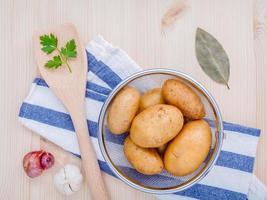 Bowl of potatoes photo