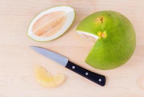 Fresh sliced pomelo photo