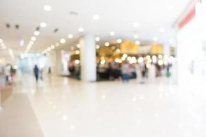 Defocused shopping mall background