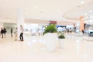 fondo desenfocado del centro comercial foto