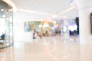 Defocused shopping mall background photo