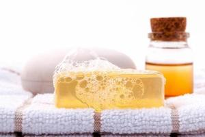 Soap bar and essential oil