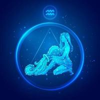 Aquarius zodiac sign icons. vector