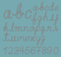Rope alphabet letter collection. Vector illustrations.