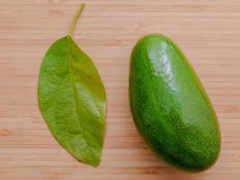 Avocado and leaf