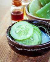Bowl of cucumber