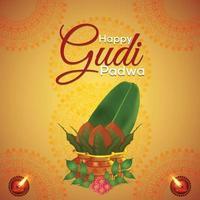 tarjeta de felicitación realista creativa de gudi padwa