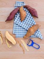 Sweet potato flat lay