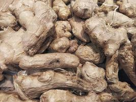 Pile of ginger roots