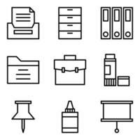 vector de icono de línea de oficina