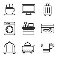 Hotel Service Icon Pack vector