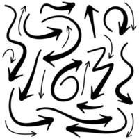 Hand Drawn Arrows Collection vector