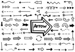 Black Arrows Hand Drawn Collection vector