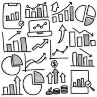Hand Drawn Set of Business Diagram vector