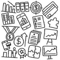 Doodle Business Elements vector