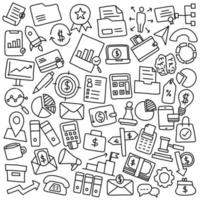 Hand Drawn set of Business and Financial vector