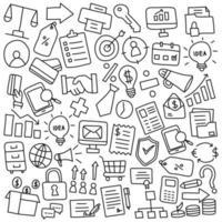 icono de negocios elementos de doodle vector