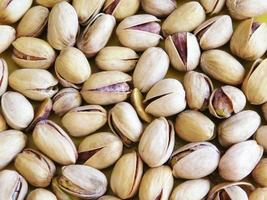 Close-up of pistachios in shells