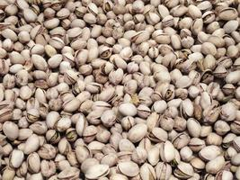 Pile of pistachios in shells