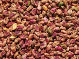 Close-up of shelled pistachios