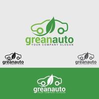 Green Auto Logo Design Template vector