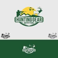 hunting logo design vector template