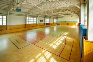 Indoor basketball court photo