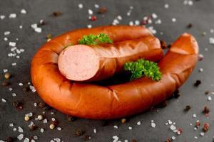 salchichas frescas polacas foto
