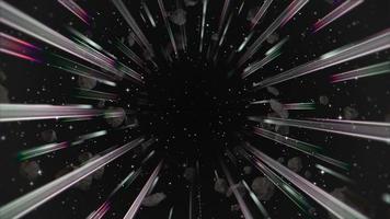 movimento retro linhas na galáxia, fundo abstrato video