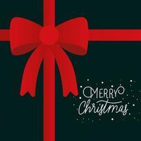 merry christmas ribbon vector design