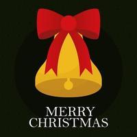 merry christmas bell vector design