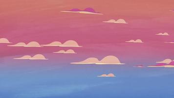 fundo de animação de desenho animado com nuvens de movimento, pano de fundo abstrato