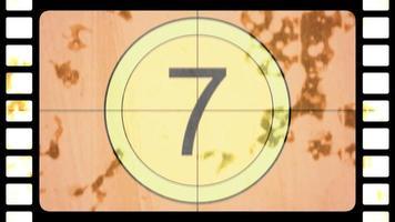 Motion Retro Film Countdown, abstrakter Hintergrund im Stil der 80,90er Jahre