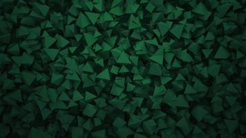 Motion dark green triangles shapes, abstract geometric background video