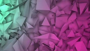 movimento formas geométricas verde-escuras e rosa, fundo abstrato