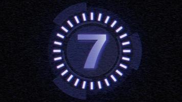 contagem regressiva de filme digital de movimento azul, fundo abstrato em estilo moderno video