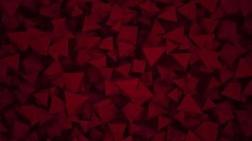 movimento formas geométricas escuras vermelhas, fundo abstrato video