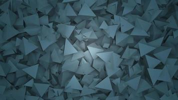 Motion dark blue triangles shapes, abstract geometric background video