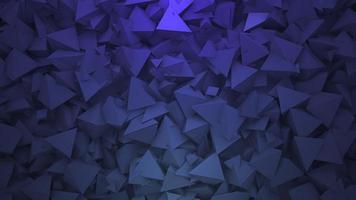 beweging donkerblauwe driehoeken vormen, abstracte geometrische achtergrond