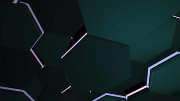 rörelse mörk svart och lila hex rutnät bakgrund, abstrakt bakgrund video