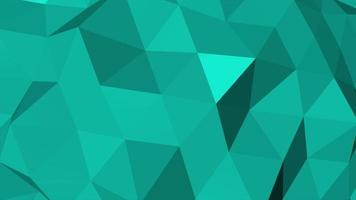 rörelse mörkgrön låg poly abstrakt bakgrund video