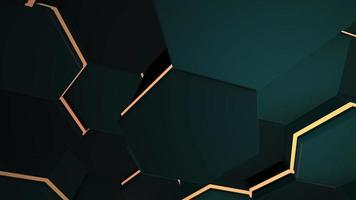 rörelse mörk svart hex rutnät bakgrund, abstrakt bakgrund video