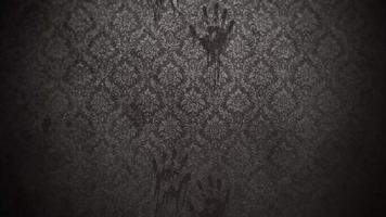 Fondo de terror místico con pasillo oscuro de la habitación.